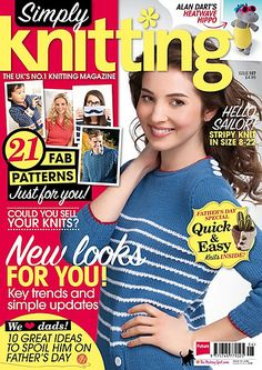 Ravelry: Simply Knitting 107, June 2013