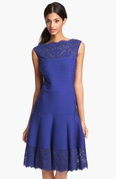 I like everything except the horizontal pleating. Tadashi Shoji Matte A-Line Jersey Dress available at #Nordstrom