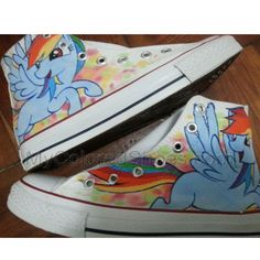My Little Pony Shoes My little Pony High Quality Hand Painted Canvas Shoes Rainbow Dash Shoes
