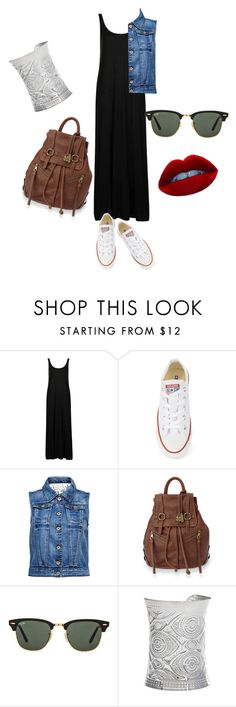 """""""Comfortable and for all day ^_^"""" by mdoraki ❤ liked on Polyvore featuring Topshop, Converse, ONLY, Lucky Brand and Ray-Ban"""