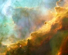 Small region with M17, also known as the Omega or Swan Nebula (© NASA/Reuters)