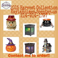 The 2015 Harvest Collection!! #scentsy #fall2015 kaylaholmes.Scentsy.us