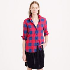 J.Crew - Flannel shirt in buffalo check