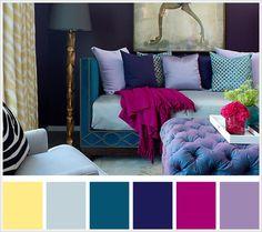 color schemes interior purple