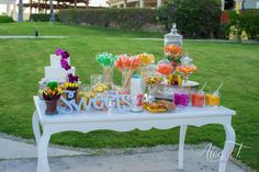 A fun candy table for your and your guests #DreamsLosCabos #Mexico #Destinationwedding