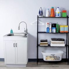 Here's what you need to consider when choosing a utility sink for your laundry room. | 8 Tips for Setting Up a Stylish and Functional Laundry Room Sink