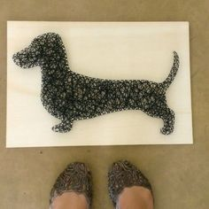 Dachshund String Art... one of 14 amazing pieces!