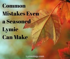 Common Mistakes Even a Seasoned Lymie Can Make - LYMEOLOGY