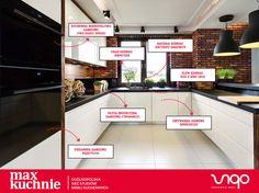 Dobranie odpowiednich urządzeń do kuchni to niezwykle ważna kwestia.  Realizacja: Vigo Max Kuchnie.