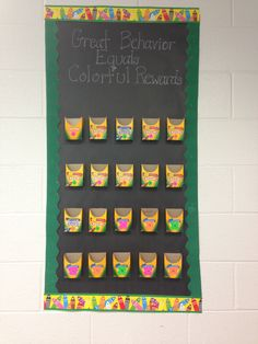 They can earn 2 crayons per day. If they earn by Friday they get a prize out if the small treasure box. If they get 10 crayons (perfect all week!) they get a prize out if the big treasure chest! Class Management, Behavior Management, Classroom Management, Classroom Projects, Classroom Decor, Treasure Boxes, Treasure Chest, Classroom Rewards, Student Jobs