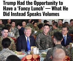"""14.7k Likes, 135 Comments - #1 In Exposing Liberal Lies (@the_typical_liberal) on Instagram: """"Instead of Trump having an expensive and fancy lunch, he decided to spend it with US and SK service…"""""""