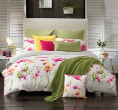 Celeste Quilt Cover Set By Bianca Celeste Quilt Cover & Pillowcase Set features a great design in tones of Pink on a white ground. Its fresh, it is strikin Color Palette Pink, King Size Bedding Sets, Bed, King Bed Linen, Pink Bedding, King Size Bed, Double Beds, Superking Bed, Pillow Cases