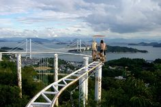 Pedal-powered ride in Japan: The SkyCycle.