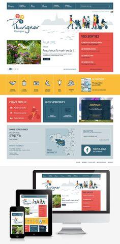 Refonte du site Internet de la ville de Pluvigner (56) : #Web #Webdesign #Responsive #Mairie #Ville #Public : www.pluvigner.fr by @creasit