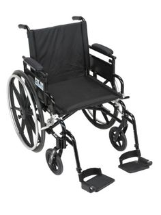 Drive Medical Viper Plus GT Wheelchair with Flip Back Removable Adjustable Desk Arms Swing away Footrests 18 Seat <3 Detailed information can be found by clicking on the VISIT button