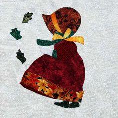 Eveline und 1001 Quilts: Die Sunbonnets im Detail Hand Applique, Applique Quilts, Embroidery Applique, Sunbonnet Sue, Applique Templates, Applique Designs, Fabric Pictures, Doll Quilt, Free Machine Embroidery Designs