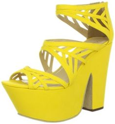 Michael Antonio Women's Trego Platform Sandal,Yellow,8.5 M US Michael Antonio. $75.00