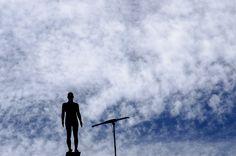 Obra de Gormley no alto do Edifício Martinelli - Julho 2012
