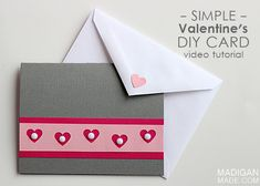 Easy Handmade Valentine's Card (video)