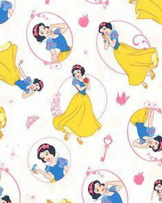Disney Princess - Snow White Beauty - Quilt Fabrics from www.eQuilter.com