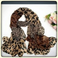 Leopard print scarf Chiffon leopard print scarf. Size about 70 cm. My price is firm. Accessories Scarves & Wraps