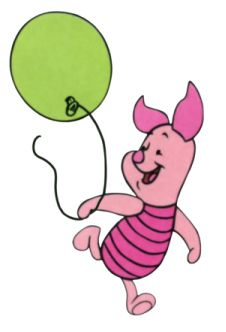Piglet with balloon