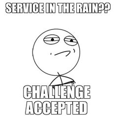 Service in the rain is like the coolest thing ever, every jw must experience it at least once