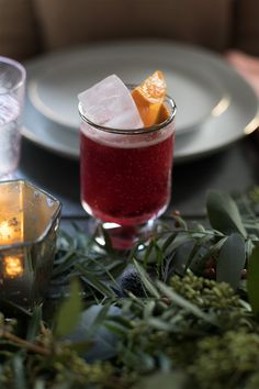 The Only Cocktail You'll Need This Holiday: Spiced Cranberry Pear Bourbon Cocktail | http://saltandwind.com