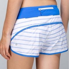 Lululemon Speed Shorts Deauville Pipe Stripe -  2 Lululemon Run Speed Shorts Deauville Pipe Blue & White Stripe -  size 2. Almost new, only worn a couple times. I love these but sadly they are too small now. lululemon athletica Shorts