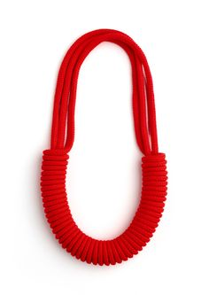 Image of Multi-Strand Necklace - Fluoro Red