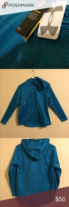 Blue under armour sweatshirt Blue under armour hoodie sweatshirt. Brand new, never worn, still has tags on it and there are no stains or rips. Under Armour Shirts & Tops Sweatshirts & Hoodies
