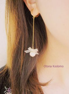 【再販】*ふんわりクリーム色のイヤリング* by OtonaKodomo アクセサリー イヤリング