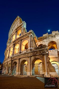 Roman Colosseum at purple hour, Rome Italy by Visualist Images, via Flickr
