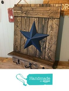 Distressed rustic barn star antique wall decore. Distress your home on a budget. (affiliate link)