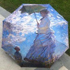 LIKE RAIN Brand 2017 New Van Gogh Oil Painting Arts Umbrella Rain Women Creative Chinese Umbrellas Mujer Paraguas Parasol YHS01 #OilPaintingGirl