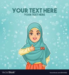 Young muslim woman wearing hijab veil waving with her palm or five fingers gesture, cartoon character design, against tosca background, vector illustration. Tired Cartoon, Foto Frame, Education Banner, Youtube Logo, Muslim Family, Superhero Kids, Fish Vector, Groom Looks, Logo Concept
