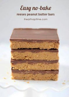 NO BAKE REESES BARS  1 cup salted butter (melted)  2 cups keebler graham cracker crumbs  1/4 cup brown sugar  1 3/4 cup powdered sugar  1 cup peanut butter  1/2 tsp. vanilla  1 (11 oz) bag milk chocolate chips  Combine all ingredients, except chocolate chips in a medium sized bowl & Stir until  smooth. Pour into a 9x13 pan. Melt chocolate in the microwave (at 50% power) for 1-2 minutes. Stir chocolate and pour over the peanut mixture. Refrigerate bars for one hour & cut while cool.