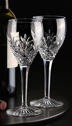 Waterford Huntley Red Wine Goblets, Pair