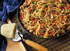 Mozzarella Skillet Spaghetti