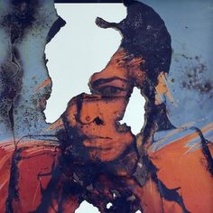 Artist of the Day Douglas Gordon Self-Portrait of You + Me (Mohammed Ali) 2007 Smoke and Mirror 22 × 22 × 3 in × × cm Wes Naman, Matthieu Bourel, Douglas Gordon, Smoke And Mirrors, Muhammad Ali, Mixed Media Canvas, Best Artist, Artsy, Portrait