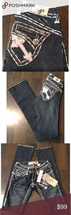 """Laguna Beach Emerald Beach Jeans GORGEOUS Laguna Beach Denim Co. jeans, these are the Emerald Beach edition. Hand stitched, handmade jeans - made in CA. Just beautiful 💕💕NWT also includes extra buttons and grommets. Dry clean only!  Size 25 97% Cotton, 3% Spandex Waist 13"""" Inseam 35.5"""" Length 41""""  Please comment with any questions and feel free to make an offer with the blue button! ⭐️ Purchase by noon EST and item(s) ship the same day!  Bundle items and save, just click the three dots in…"""