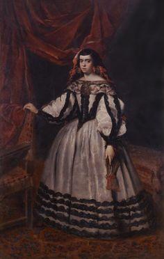 Duquesa de Híjar, por Juan Bautista del Mazo (Museo de la Real Academia de Bellas Artes de San Fernando)