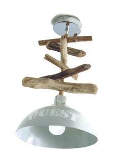 lustre suspension plafonnier en bois flott rouge 25 cm cr ation unique lustre. Black Bedroom Furniture Sets. Home Design Ideas
