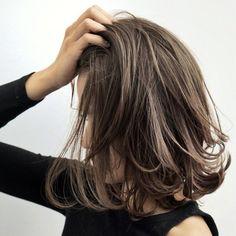 Pin on ヘアースタイル Medium Hair Styles, Curly Hair Styles, Hair Arrange, Long Bob Haircuts, Asian Hair, Hair Images, Great Hair, Hair Dos, Hair Hacks