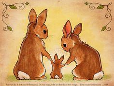 Welcome to the World by Katie-W. on - HA 02 sticken Ostern - Animales Funny Bunnies, Baby Bunnies, Cute Bunny, Rabbit Drawing, Rabbit Art, Bunny Rabbit, Animal Drawings, Cute Drawings, Baby Animals