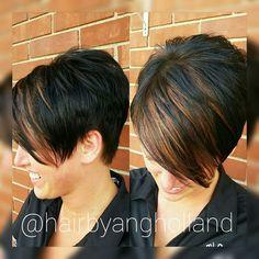 40 Stylish Pixie Haircut For Thin Hair Ideas 25 Wavy Bob Hairstyles, Thin Hair Haircuts, Pretty Hairstyles, Pixie Haircuts, Hair Color And Cut, Haircut And Color, Short Hair Cuts For Women, Short Hair Styles, Corte Y Color