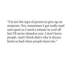 Everyone seems to always run when things get hard