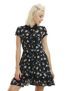 <p>This dress is light and flowy and oh-so-girly! Soften up your look with…