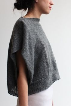 Tejidos - Knitted - the souchi oversized cropped luxe cashmere izzy panel shell - ultra soft and cozy Moda Crochet, Knit Crochet, Look Fashion, Diy Fashion, Swag Fashion, Diy Kleidung, Diy Clothing, Mode Inspiration, Refashion