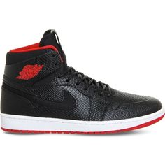 buy popular fd58b 47f7a NIKE Air jordan 1 high noveau leather trainers ( 165) ❤ liked on Polyvore  featuring